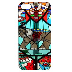 Elephant Stained Glass Apple Iphone 5 Hardshell Case With Stand by BangZart