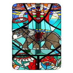 Elephant Stained Glass Samsung Galaxy Tab 3 (10 1 ) P5200 Hardshell Case