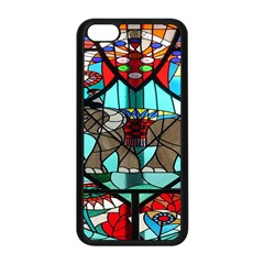 Elephant Stained Glass Apple Iphone 5c Seamless Case (black) by BangZart