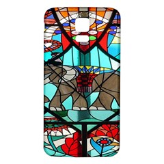 Elephant Stained Glass Samsung Galaxy S5 Back Case (white)