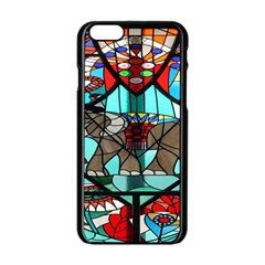 Elephant Stained Glass Apple Iphone 6/6s Black Enamel Case by BangZart