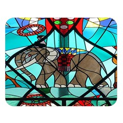 Elephant Stained Glass Double Sided Flano Blanket (large)  by BangZart