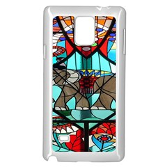 Elephant Stained Glass Samsung Galaxy Note 4 Case (white) by BangZart