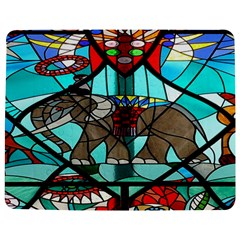 Elephant Stained Glass Jigsaw Puzzle Photo Stand (rectangular)