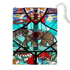 Elephant Stained Glass Drawstring Pouches (xxl)