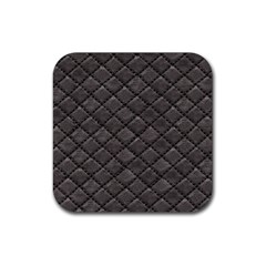 Seamless Leather Texture Pattern Rubber Square Coaster (4 Pack)