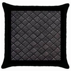 Seamless Leather Texture Pattern Throw Pillow Case (black)