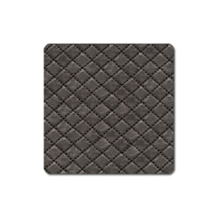 Seamless Leather Texture Pattern Square Magnet