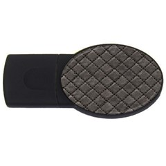 Seamless Leather Texture Pattern Usb Flash Drive Oval (4 Gb)
