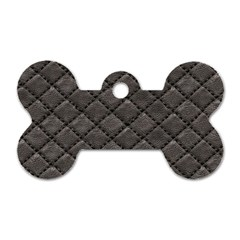 Seamless Leather Texture Pattern Dog Tag Bone (two Sides)