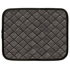 Seamless Leather Texture Pattern Netbook Case (large)