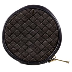 Seamless Leather Texture Pattern Mini Makeup Bags
