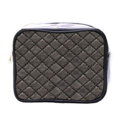 Seamless Leather Texture Pattern Mini Toiletries Bags by BangZart