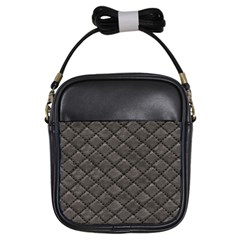 Seamless Leather Texture Pattern Girls Sling Bags