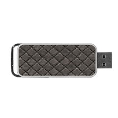 Seamless Leather Texture Pattern Portable Usb Flash (two Sides) by BangZart