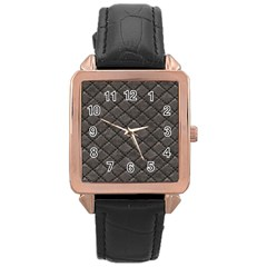 Seamless Leather Texture Pattern Rose Gold Leather Watch