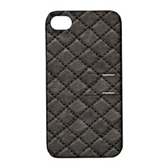 Seamless Leather Texture Pattern Apple Iphone 4/4s Hardshell Case With Stand