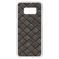 Seamless Leather Texture Pattern Samsung Galaxy S8 White Seamless Case by BangZart