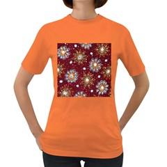 India Traditional Fabric Women s Dark T Shirt