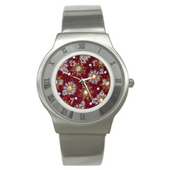India Traditional Fabric Stainless Steel Watch