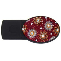 India Traditional Fabric Usb Flash Drive Oval (4 Gb) by BangZart