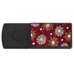 India Traditional Fabric Rectangular Usb Flash Drive by BangZart