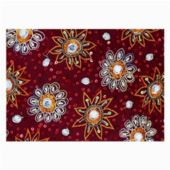 India Traditional Fabric Large Glasses Cloth by BangZart