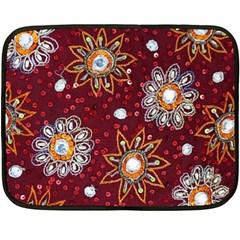 India Traditional Fabric Fleece Blanket (mini)