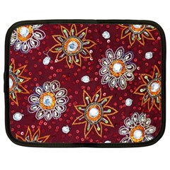India Traditional Fabric Netbook Case (xl)