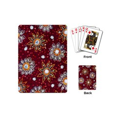 India Traditional Fabric Playing Cards (mini)