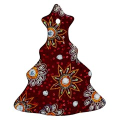 India Traditional Fabric Ornament (christmas Tree)