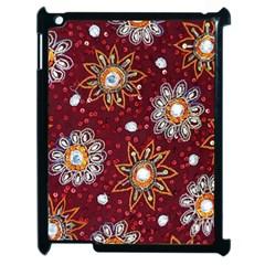 India Traditional Fabric Apple Ipad 2 Case (black)