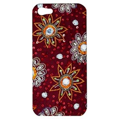 India Traditional Fabric Apple Iphone 5 Hardshell Case