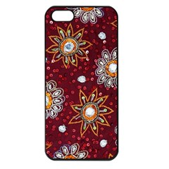 India Traditional Fabric Apple Iphone 5 Seamless Case (black)