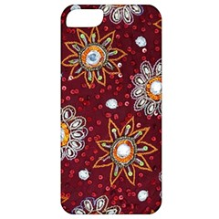 India Traditional Fabric Apple Iphone 5 Classic Hardshell Case by BangZart