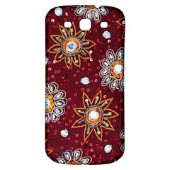 India Traditional Fabric Samsung Galaxy S3 S Iii Classic Hardshell Back Case by BangZart