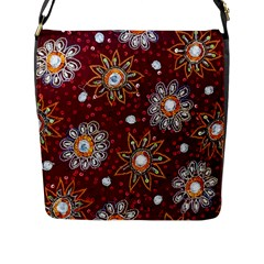India Traditional Fabric Flap Messenger Bag (l)  by BangZart