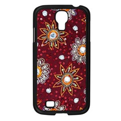 India Traditional Fabric Samsung Galaxy S4 I9500/ I9505 Case (black) by BangZart