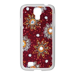 India Traditional Fabric Samsung Galaxy S4 I9500/ I9505 Case (white) by BangZart