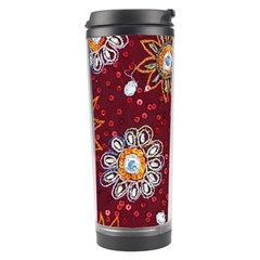 India Traditional Fabric Travel Tumbler by BangZart