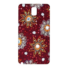 India Traditional Fabric Samsung Galaxy Note 3 N9005 Hardshell Back Case by BangZart