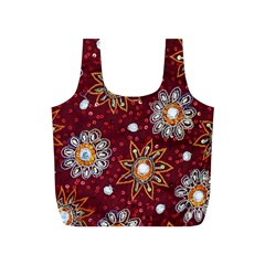 India Traditional Fabric Full Print Recycle Bags (s)  by BangZart