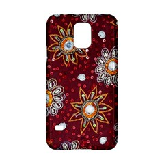 India Traditional Fabric Samsung Galaxy S5 Hardshell Case  by BangZart