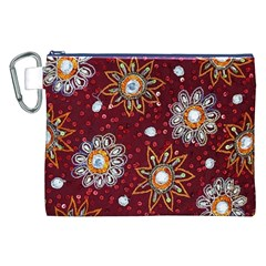 India Traditional Fabric Canvas Cosmetic Bag (xxl) by BangZart