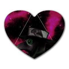Bird Man  Heart Mousepads by Valentinaart