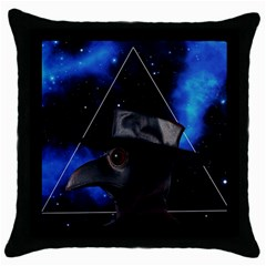 Bird Man  Throw Pillow Case (black) by Valentinaart