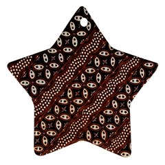 Art Traditional Batik Pattern Ornament (star)