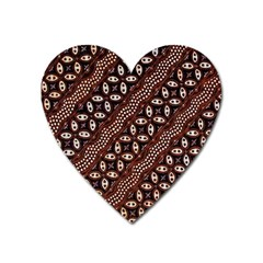 Art Traditional Batik Pattern Heart Magnet by BangZart