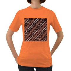Art Traditional Batik Pattern Women s Dark T Shirt