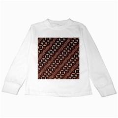 Art Traditional Batik Pattern Kids Long Sleeve T Shirts